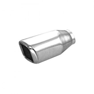 Thunderbolt® - Hi-Polished Square Rolled Edge Straight Cut Weld-On Polished Exhaust Tip