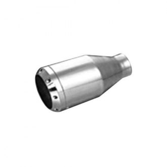 "Thunderbolt® - Hi-Polished Sonic Round Straight Cut Weld-On Exhaust Tip (2.25"" Inlet, 4.5"" Outlet, 8.5"" Length)"