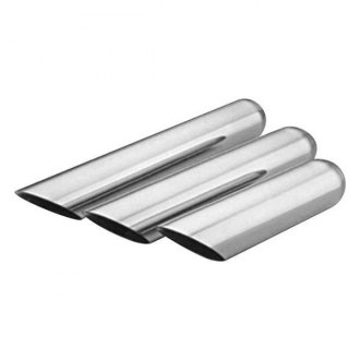Thunderbolt® - Hi-Polished Truck Style Round Angle Cut Weld-On Exhaust Tip