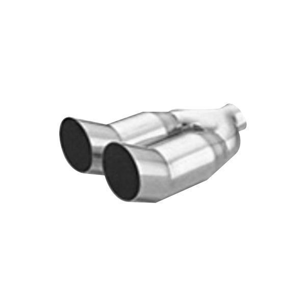 Thunderbolt® - Stainless Steel Round Beveled Edge Straight Cut Dual Polished Exhaust Tip