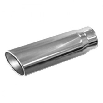 "Thunderbolt® - Hi-Polished Round Rolled Edge Angle Cut Weld-On Single-Wall Polished Exhaust Tip (4"" Inlet, 5"" Outlet, 15"" Length)"