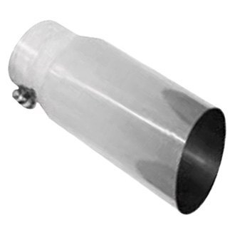 Thunderbolt® - Hi-Polished Diesel Round Angle Cut Single-Wall Polished Exhaust Tip