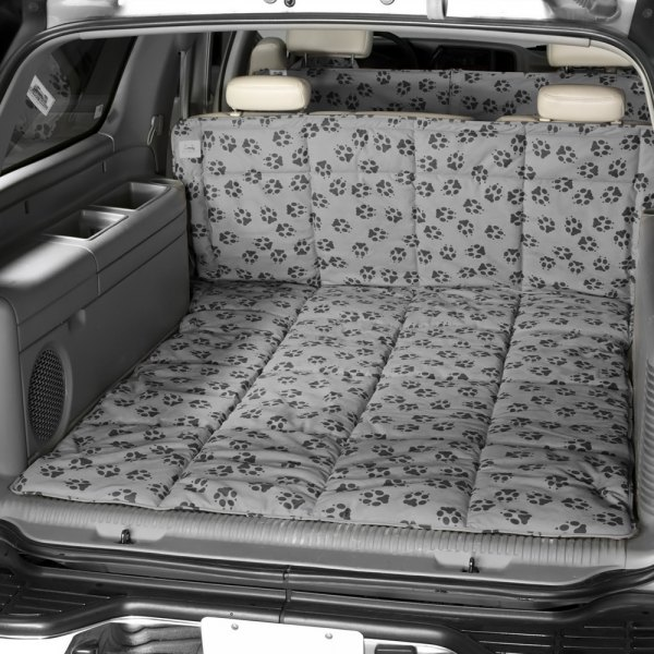 Image may not reflect your exact vehicle! Canine Covers® - Crypton™ Paw Print Ash Cargo Liner