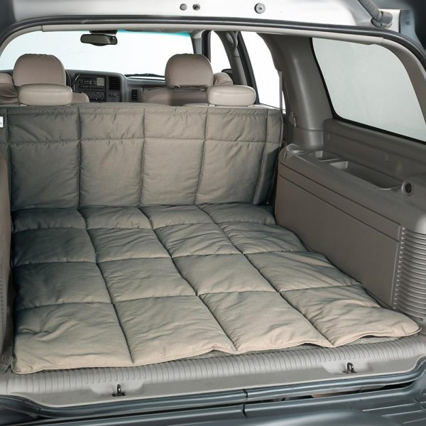 Image may not reflect your exact vehicle! Canine Covers® - Polycotton Misty Gray Cargo Liner