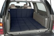 Image may not reflect your exact vehicle! Canine Covers® - Polycotton Navy Blue Cargo Liner