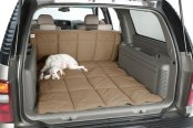 Image may not reflect your exact vehicle! Canine Covers® - Polycotton Tan Cargo Liner