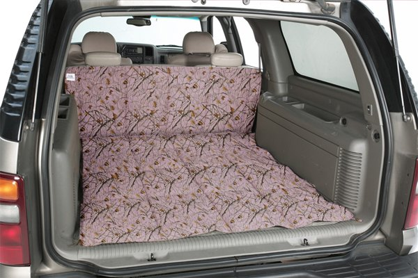 Image may not reflect your exact vehicle! Canine Covers® - True Timber™ Camo Print Pink Cargo Liner