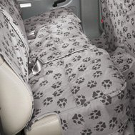 Canine Covers® - Crypton™ Paw Print Custom Rear Seat Protector