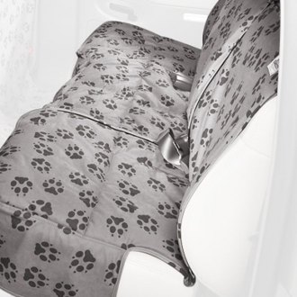 Canine Covers® - Crypton Paw Print Rear Row Ash Seat Protector
