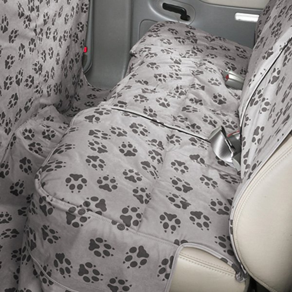 Canine Covers® - Crypton™ Paw Print Custom Rear Ash Seat Protector