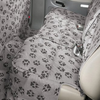 Image may not reflect your exact vehicle! Canine Covers� - Crypton� Paw Print Custom Rear Ash Seat Protector