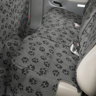 Image may not reflect your exact vehicle! Canine Covers� - Crypton� Paw Print Custom Rear Fathom Seat Protector