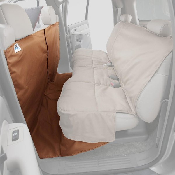 Image may not reflect your exact vehicle! Canine Covers® - Polycotton CoverAll Tan Seat Protector