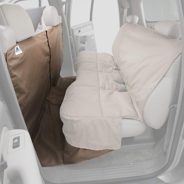 Image may not reflect your exact vehicle! Canine Covers® - Polycotton CoverAll Taupe Seat Protector