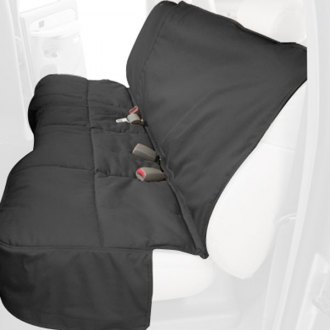 Canine Covers® - Polycotton Rear Row Charcoal Black Seat Protector