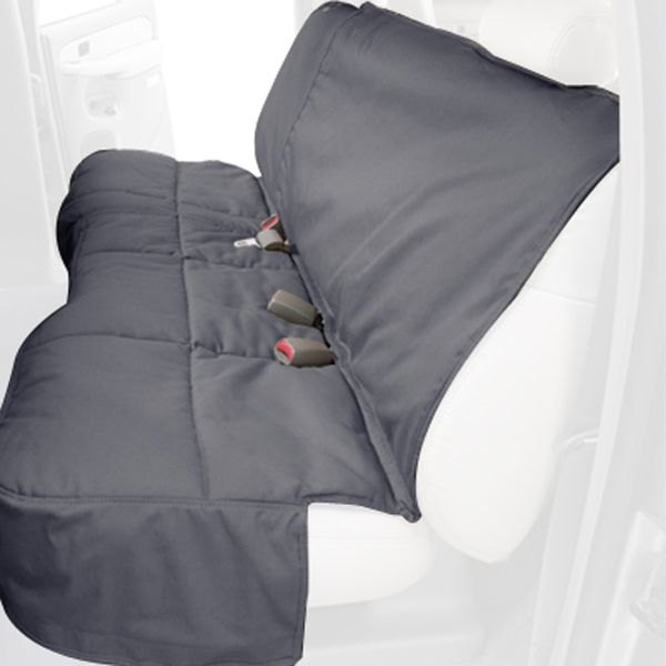 Canine Covers® - Polycotton Custom Rear Gray Seat Protector