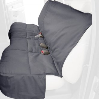 Canine Covers® - Polycotton Rear Row Gray Seat Protector