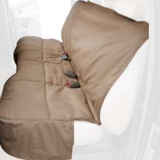 Canine Covers® - Polycotton Rear Row Tan Seat Protector