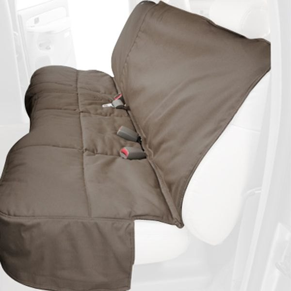 Image may not reflect your exact vehicle! Canine Covers® - Polycotton Custom Rear Wet Sand Seat Protector