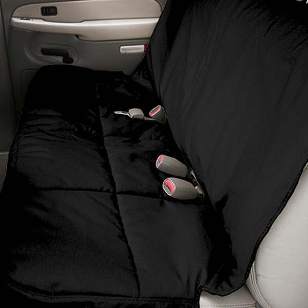 Image may not reflect your exact vehicle! Canine Covers® - Polycotton Semi-Custom Rear Black Seat Protector