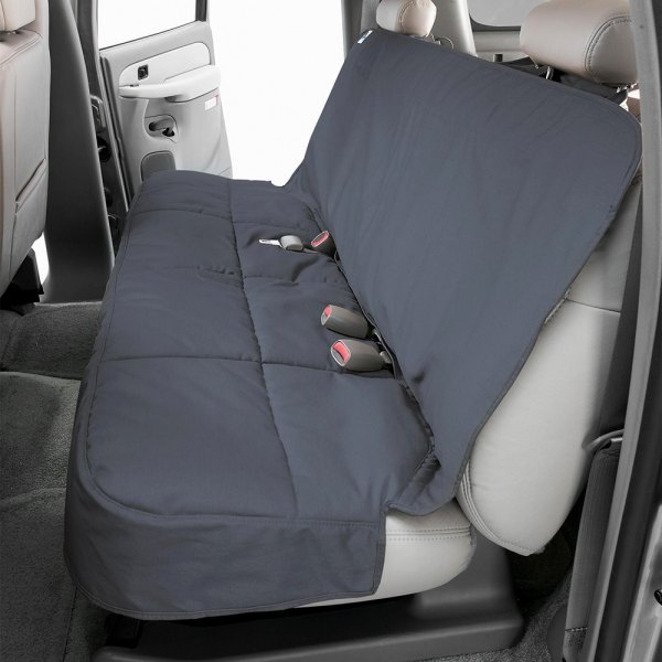 Image may not reflect your exact vehicle! Canine Covers® - Polycotton Semi-Custom Rear Gray Seat Protector