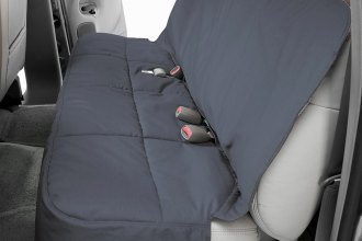 Canine Covers® - Polycotton Semi-Custom Rear Gray Seat Protector