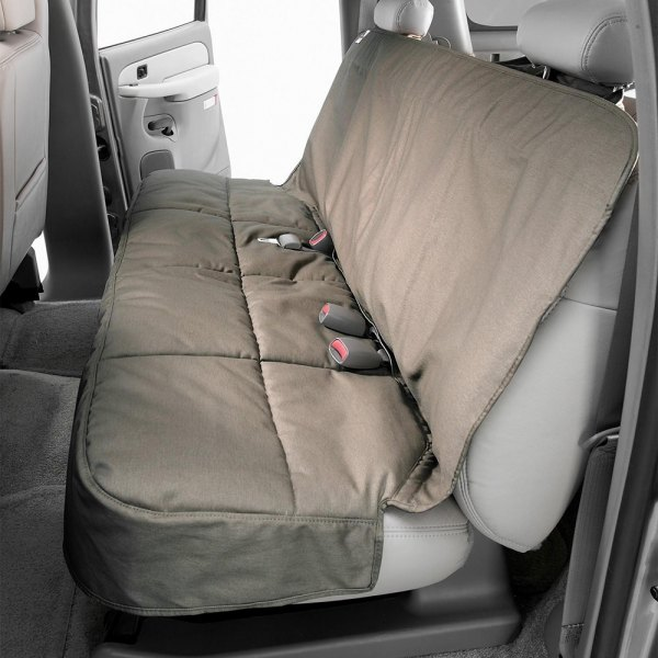 Image may not reflect your exact vehicle! Canine Covers® - Polycotton Semi-Custom Rear Misty Gray Seat Protector