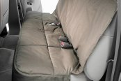 Image may not reflect your exact vehicle! Canine Covers� - Polycotton Semi-Custom Rear Misty Gray Seat Protector