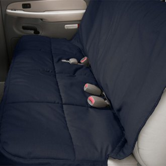 Image may not reflect your exact vehicle! Canine Covers� - Polycotton Semi-Custom Rear Navy Blue Seat Protector