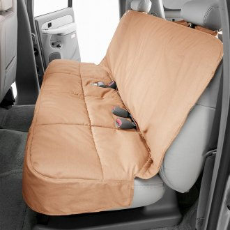 Canine Covers® - Polycotton Semi-Custom Rear Tan Seat Protector