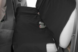 Image may not reflect your exact vehicle! Canine Covers® - Polycotton Econo Plus Rear Black Seat Protector