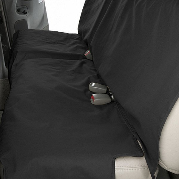 Image may not reflect your exact vehicle! Canine Covers® - Polycotton Econo Plus Rear Charcoal Black Seat Protector