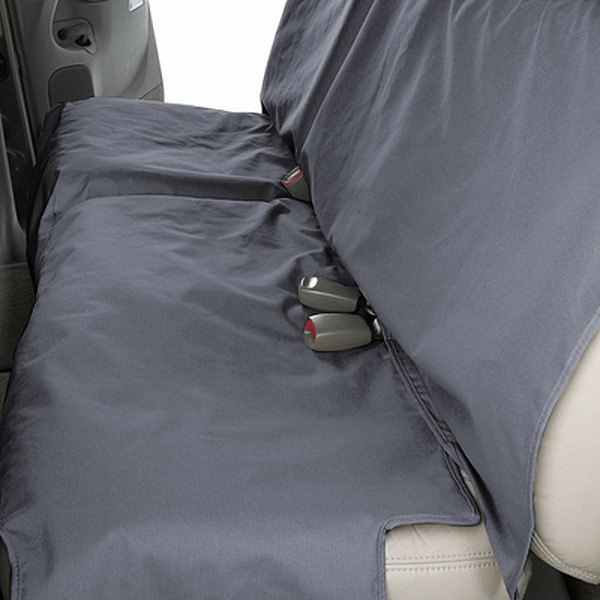 Image may not reflect your exact vehicle! Canine Covers® - Polycotton Econo Plus Rear Gray Seat Protector