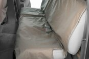 Image may not reflect your exact vehicle! Canine Covers® - Polycotton Econo Plus Rear Misty Gray Seat Protector