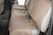 Image may not reflect your exact vehicle! Canine Covers® - Polycotton Econo Plus Rear Taupe Seat Protector