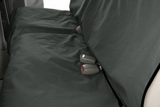 Image may not reflect your exact vehicle! Canine Covers® - Coated Polyester Econo Rear Gray Seat Protector