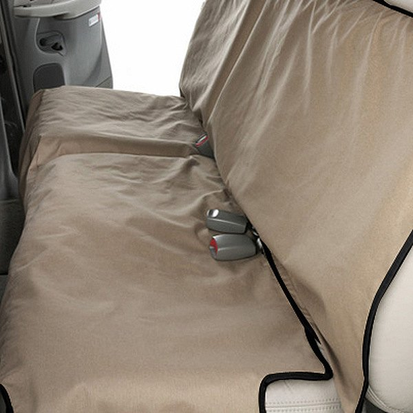 Canine Covers® - Coated Polyester Econo Rear Tan Seat Protector