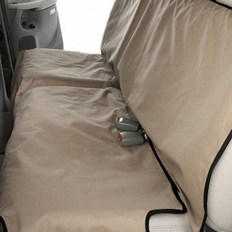 Image may not reflect your exact vehicle! Canine Covers® - Coated Polyester Econo Rear Tan Seat Protector