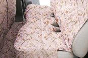 Canine Covers® - True Timber™ Camo Print Custom Rear Pink Seat Protector