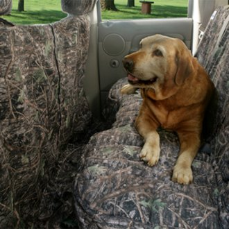 Image may not reflect your exact vehicle! Canine Covers� - True Timber� Camo Print Custom Rear Seat Protector