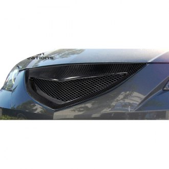 Carbon Creations® - 1-Pc Open Mouth Style Mesh Main Grille
