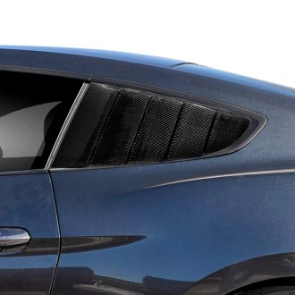 Carbon Creations® - CVX Style Carbon Fiber Rear Window Scoop Louvers
