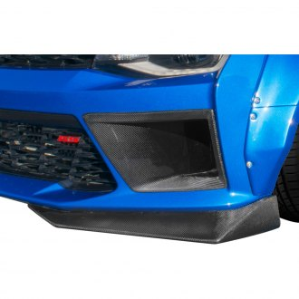 Carbon Creations® - DriTech Grid Style Carbon Fiber Front Bumper Air Duct Extensions Add Ons