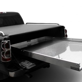 Image may not reflect your exact vehicle! Cargo Ease® - Optional Bed Slide Diamond Deck