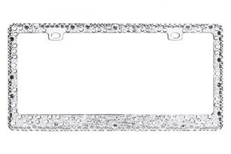 CarLashes® - Diamond Clear Encrusted on Chrome License Plate Frame