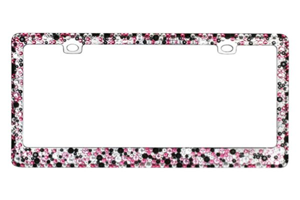CarLashes® - Encrusted Crystal on Chrome License Plate Frame