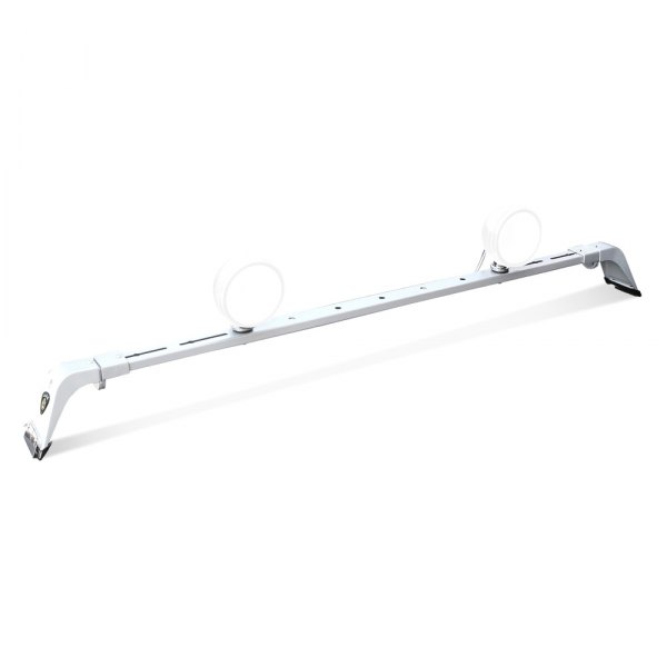 "CARR® - Deluxe Series Rota Titanium Silver Powder Coat Roof Light Bar for Up to 56"" Lights"