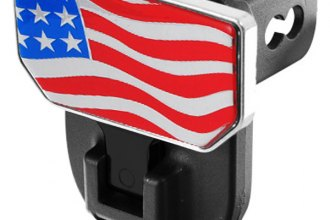 CARR® 183032 - HD Universal Hitch Steps With American Flag Logo