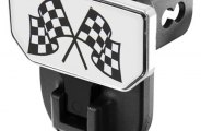 CARR� - HD Hitch Step with Checkered Flags Logo