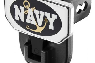 CARR® 183122 - HD Universal Hitch Steps With U.S. Navy Logo